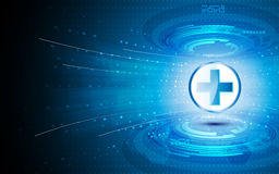 传染媒介抽象技术医疗保健创新概念背景 免版税库存照片