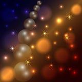 传染媒介抽象星和珍珠黑暗背景 免版税库存照片