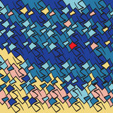 传染媒介抽象构思设计 时髦几何元素孟菲斯卡片 现代抽象设计海报,盖子,卡片设计 免版税库存图片