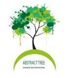 传染媒介抽象树 免版税库存图片
