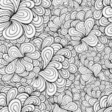 传染媒介抽象植物无缝的样式 库存图片