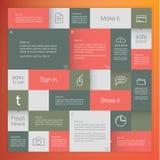 传染媒介抽象模板。马赛克平的模板-五颜六色squa 免版税图库摄影
