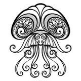 传染媒介抽象海水母 皇族释放例证