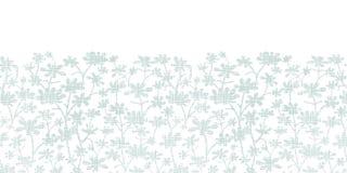 传染媒介抽象灰色灌木留下纺织品 免版税图库摄影