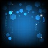 传染媒介抽象电子接口技术 免版税库存图片