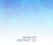 传染媒介抽象科学背景 六角形几何设计 免版税库存照片