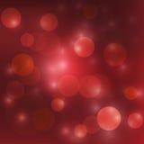 传染媒介抽象红色bokeh 库存图片