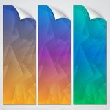传染媒介抽象纸横幅集合 免版税库存照片