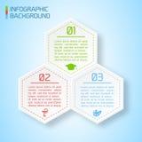 传染媒介抽象纸infographic背景 免版税库存照片