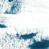 传染媒介抽象背景刷子冲程手画与丙烯酸漆,白色的深蓝海军陆战队员 免版税库存图片