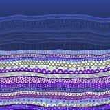 传染媒介抽象花卉装饰背景 库存例证