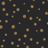 传染媒介抽象金斑点闪烁构造了圈子背景 免版税图库摄影