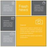 传染媒介抽象马赛克模板。与plac的五颜六色长方形 免版税库存图片