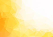 传染媒介抽象黄色白色背景 库存图片