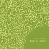传染媒介抽象绿色自然纹理框架角落 免版税库存图片