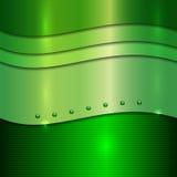 传染媒介抽象绿色金属背景 免版税库存照片