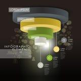 传染媒介抽象3d圆形统计图表infographic元素 库存照片