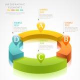 传染媒介抽象3d圆环infographics 库存照片