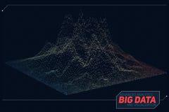 传染媒介抽象3D大数据形象化 未来派infographics审美设计 视觉信息复杂 免版税库存图片