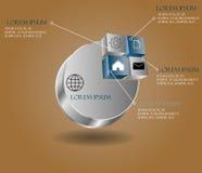 传染媒介抽象3d纸infographic元素 Metaball infograph 图库摄影