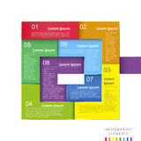 传染媒介抽象3d纸infographics 皇族释放例证