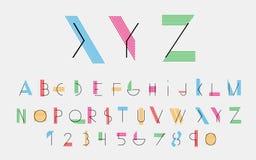 传染媒介按字母顺序的字体 库存图片