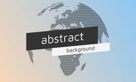 传染媒介挥动与textholder和地球的抽象背景 库存照片