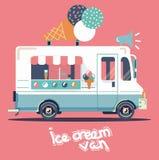 传染媒介搬运车冰淇凌 免版税图库摄影