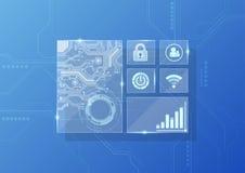 传染媒介数字技术接口,抽象背景 免版税图库摄影