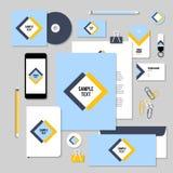 传染媒介文具与菱形的模板设计和正方形塑造 免版税图库摄影