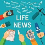 传染媒介新闻事业概念 向量例证
