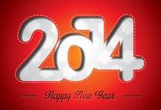传染媒介新年快乐2014五颜六色的庆祝背景 免版税图库摄影