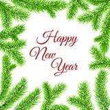 传染媒介新年树枝 库存图片