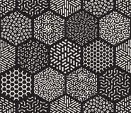 传染媒介无缝的六角混杂样式 向量例证