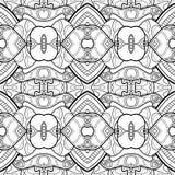 传染媒介无缝的单色抽象样式 皇族释放例证