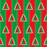 传染媒介无缝的圣诞节样式 免版税库存图片