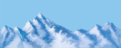 传染媒介无缝的多雪的山 免版税库存照片