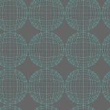 传染媒介无缝的抽象几何样式 重复滤网多角形背景 多角形球 向量例证