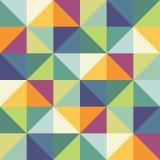 传染媒介无缝的样式样片 几何三角 绿色时髦调色板 库存图片