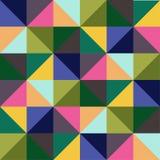 传染媒介无缝的样式样片 几何三角 绿色时髦调色板 免版税库存照片