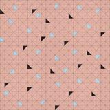 传染媒介无缝的样式样片 几何三角 绿色时髦调色板 免版税图库摄影