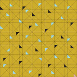 传染媒介无缝的样式样片 几何三角 绿色时髦调色板 库存照片