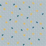 传染媒介无缝的样式样片 几何三角 绿色时髦调色板 免版税库存图片