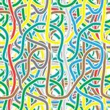 传染媒介无缝的样式-连续的颜色条纹 库存图片
