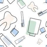 传染媒介无缝的牙医样式 库存照片
