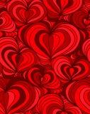 传染媒介无缝的背景手拉的心脏 向量例证