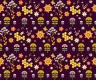 传染媒介无缝的花卉样式。 皇族释放例证