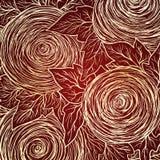 传染媒介无缝的花卉装饰背景 免版税库存照片