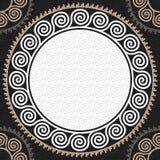 传染媒介无缝的葡萄酒白色希腊装饰品(河曲) 免版税库存图片