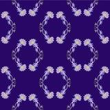 传染媒介无缝的装饰样式 设计要素例证离开向量 在紫罗兰色和黄色颜色 库存图片